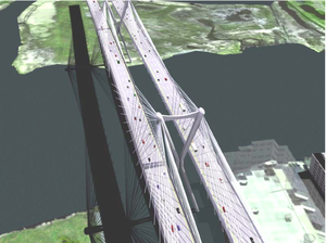 Goethals Bridge - One proposed 3D rendering of the replacement bridge in 2007