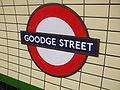Goodge Street stn roundel.JPG