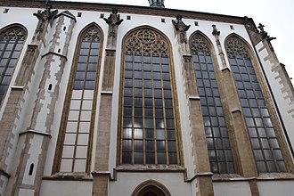 Church of St. James (Brno) - Gothic windows at Saint James's church