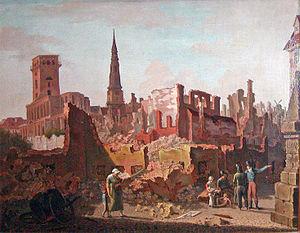 Gråbrødre Torv efter bombardementet 1807