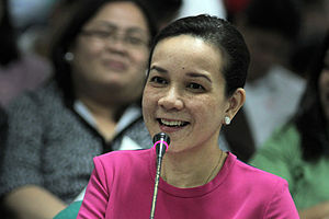 Grace Poe - Grace Poe at a Senate budget hearing in September 2012, presenting the MTRCB's proposed budget for 2013.
