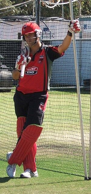 Graham Manou - Image: Graham Manou batting