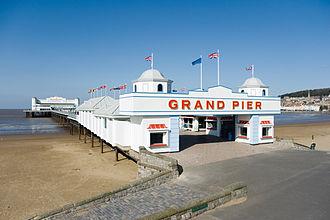 Grand Pier, Weston-super-Mare - The pier before the 2008 fire.
