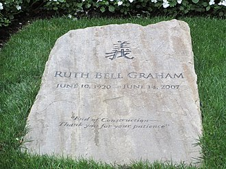 Ruth Graham - Ruth Graham gravestone at Billy Graham Library in Charlotte, North Carolina