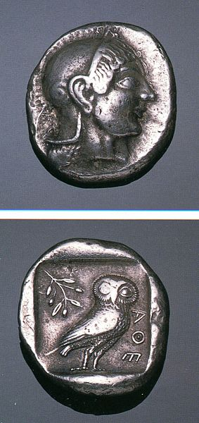 File:Greek Silver Tetradrachm of Athens (Attica).jpg