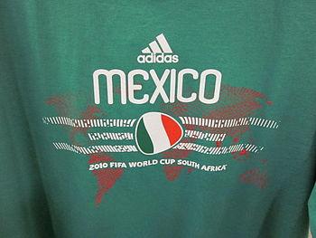 An Adidas 2010 World Cup Mexico shirt.