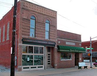 Greentown, Indiana - Greentown Historical Society, downtown Greentown.
