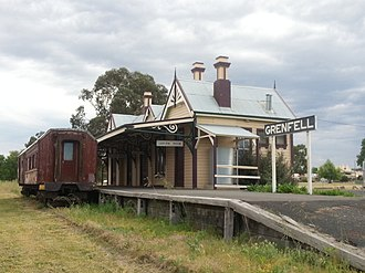 Grenfell, New South Wales - Grenfell Railway Station sign