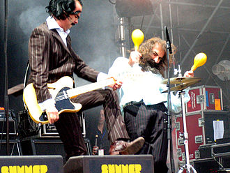Nick Cave and the Bad Seeds - Grinderman marked a return to a raw sound, as well as Cave's debut on guitar.