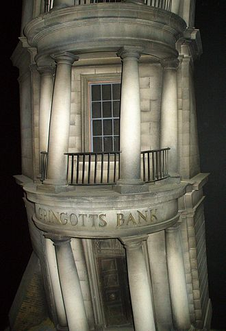 Fictional universe of Harry Potter - Gringotts Bank, Diagon Alley