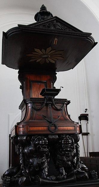 Anton Anreith - The Groote Kerk pulpit