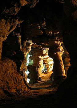 Caves in Mechowo