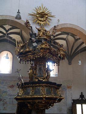 Gurk Dom Maria Himmelfahrt Innen Kanzel 2.JPG