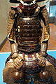 Gusoku type armor belonging to Sakakibara Yasumasa (1548-1606), view 2, Edo period, 17th century, two-piece cuirass with black lacing - Tokyo National Museum - DSC05898.JPG