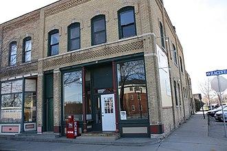 National Register of Historic Places listings in Winnebago County, Wisconsin - Image: Gustav Augustin Block Menasha Wisconsin