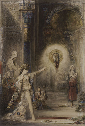 L'Apparition - The Apparition, Gustave Moreau, 1876. watercolor. Musée d'Orsay, Paris.