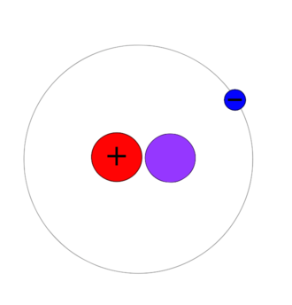 Isotopes of hydrogen - A deuterium atom contains one proton, one neutron, and one electron