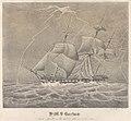 H.M.S. Barham in a Squall on the 26th Octr 1833 at 10h. 40m. Am RMG PY0784.jpg