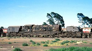 South African Class GO 4-8-2+2-8-4 - No. 2592 staged at De Aar, 14 November 1979
