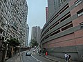 HK 北角半山 North Point Mid-Levels 雲景道 50 Cloud View Road NWFBus stop signs 富麗園 Flora Garden indoor carpark n Coral Court.JPG