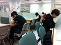 HK 旺角 Mongkok Fa Yuen Street Public Library 花園街市政大廈公共圖書館 Self-Study Room 自修室 interior visitors Nov-2013.JPG