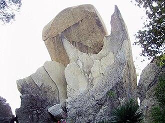 Hoi Sham Island - Fishtail Rock in Hoi Sham Park.