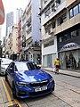 HK SW 上環 Sheung Wan 太平山街 Tai Ping Shan Street blue BMW car parking March 2020 SS2 05.jpg