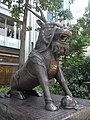 HK Wan Chai China Resources Building animal statue 08 Xiezhi Oct-2012.JPG