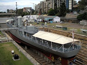 The former HMAS Diamantina (K377) in 2008