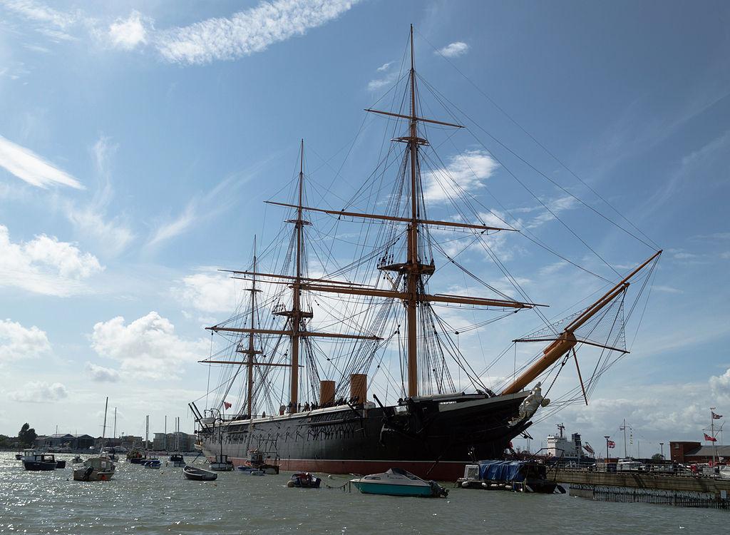 Le navire musée HMS Warrior, à Portsmouth (Hampshire).  (définition réelle 3896×2852)