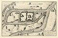 HUA-212009-Plattegrond van de burcht Trecht met omliggende bebouwing in opstand en de rivier de Oude RijnMet legenda.jpg