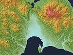 Hakodate Plain Relief Map, SRTM-1.jpg