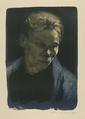 Half-length of working woman in blue shawl - Käthe Kollwitz.png