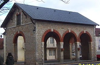 Assier - The Market Hall was built in 1884.