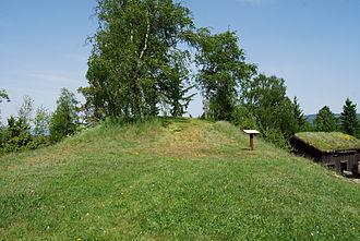 Halfdan the Black - Halvdanshaugen at Hadeland Folkemuseum, one of the several burial sites of Halfdan the Black