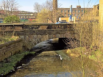 River Calder, Lancashire - Image: Hand Bridge, Burnley
