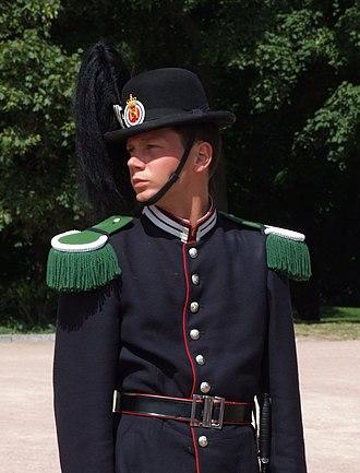 Hans Majestet Kongens Garde - Image: Hans Majestet Kongens Garde soldier edited