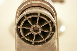 Hard water - A bathtub faucet with built-up calcification from hard water in Southern Arizona.