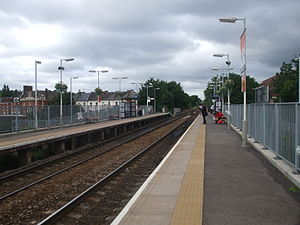 Harringay Green Lanes railway station - Image: Harringay Green Lanes stn look west