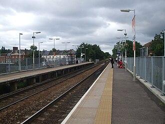 Harringay Green Lanes railway station - Image: Harringay Green Lanes stn look west