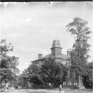 Beta Theta Pi - Harrison Hall (then known as Old Main) at Miami University, founding site of Beta Theta Pi, pictured about 1896