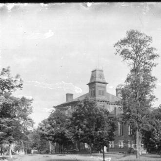 Beta Theta Pi - Harrison Hall (then known as Old Main) at Miami University, founding site of Beta Theta Pi, pictured about 1896