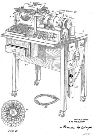 Hebern rotor machine - Image: Hebern patent