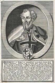 Heinrich Walpot von Bassenheim Grands Master of the Teutonic Knights