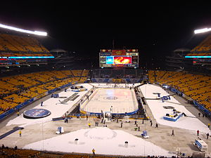 Heinz Field - Heinz Field in hockey configuration before the 2011 NHL Winter Classic