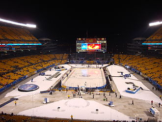 Heinz Field - Heinz Field in hockey configuration before the 2011 NHL Winter Classic