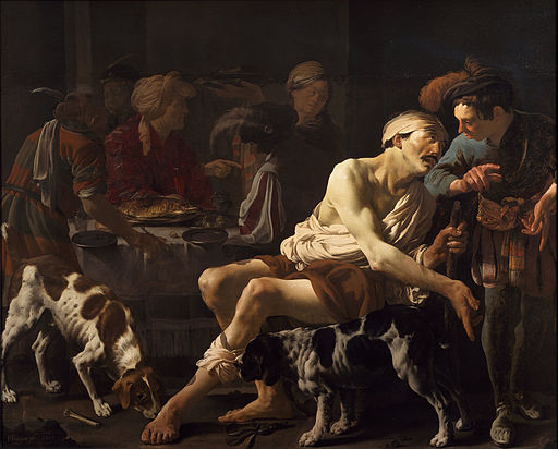 Hendrick ter Brugghen - The Rich Man and the Poor Lazarus - Google Art Project