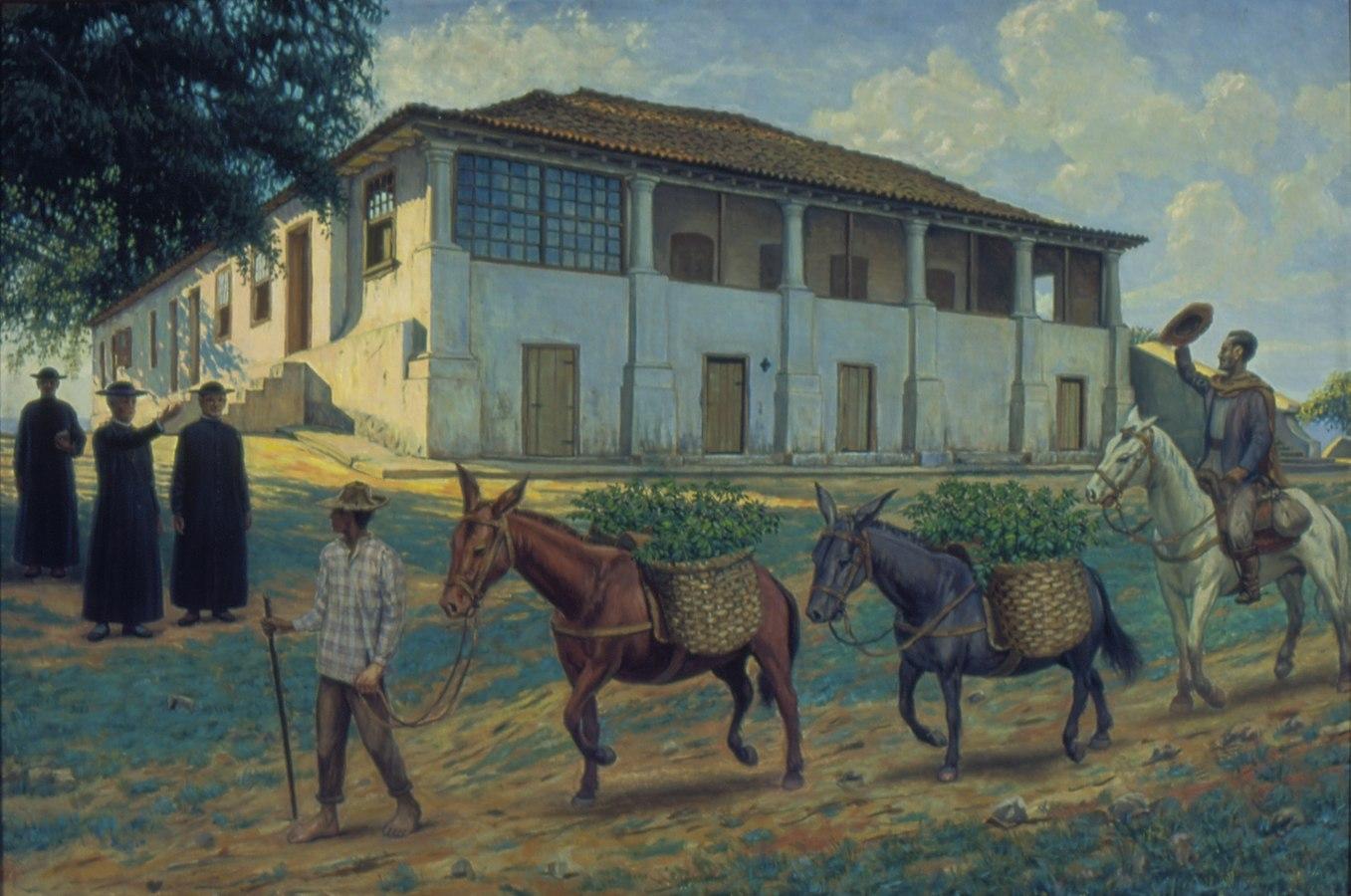 Bispo Castello Branco distribuindo mudas de café em sua Propriedade, 1870