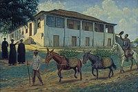 Henrique Manzo - Bispo Castello Branco distribuindo mudas de café em sua Propriedade, 1870, Acervo do Museu Paulista da USP.jpg
