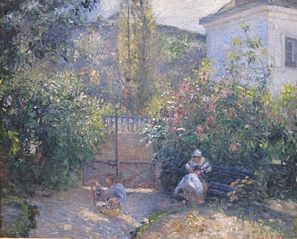 Garden at L'Hermitage, the 'Red House', Pontoise